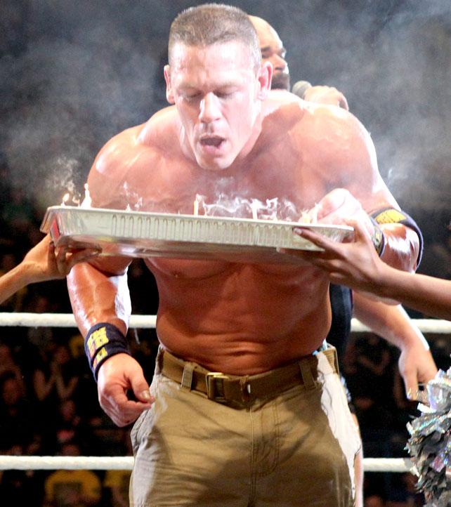 Photos John Cena Celebrates His Birthday In The Ring At WWE Raw