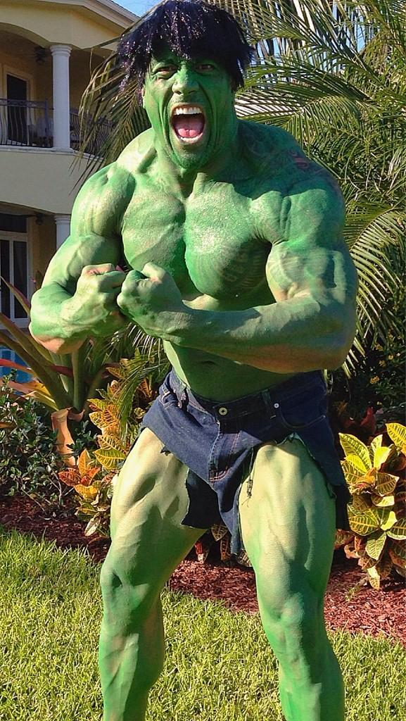 The Rock as The Incredible Hulk