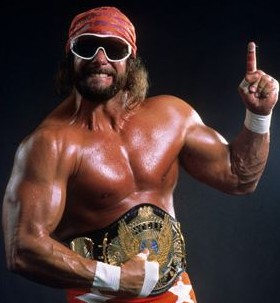 "Randy ""Macho Man"" Savage w / WWE Championship"