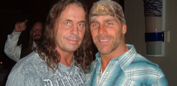 Bret hart shawn michaels appearing together wwe stars volunteer tweet on twitter wwe hall of famers bret hart and shawn michaels m4hsunfo Image collections