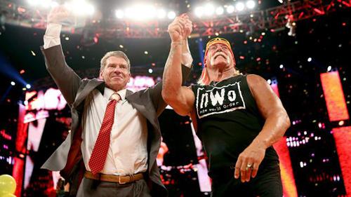 Photos Of Vince Mcmahon Hulk Hogan After Raw Wwes Top Giants Set