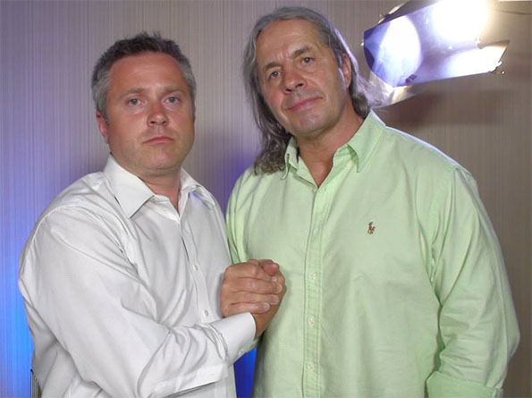 Sean Oliver and Bret Hart