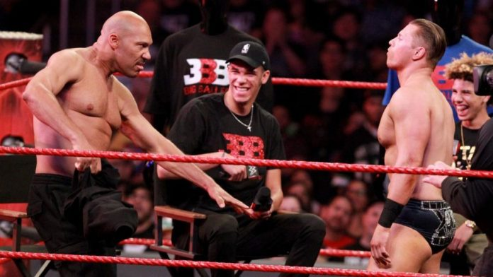 Video Footage Of Dean Ambrose and LaVar Ball During WWE RAW