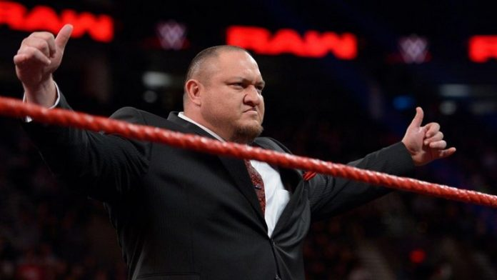 Image result for Samoa Joe sends a message to Shane McMahon