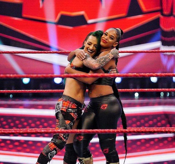 Video Bianca Belair Returns On Wwe Raw Ruby Riott Reacts Pwmania Com
